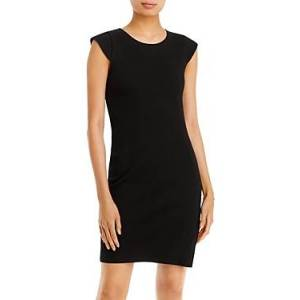 Aqua Rib Knit Bodycon Dress - 100% Exclusive  - Female - Black - Size: Medium