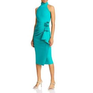 Chiara Boni La Petite Robe Gudrum Ruffled Sheath Dress - 100% Exclusive  - Female - Pavone - Size: 14