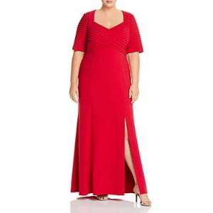 Adrianna Papell Plus Crepe Gown  - Female - Spiced Apple - Size: 18W