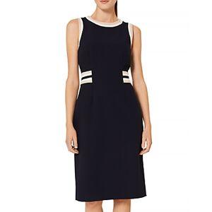 Hobbs London Ebony Sheath Dress  - Female - Navy/Camel - Size: 18 UK/14 US
