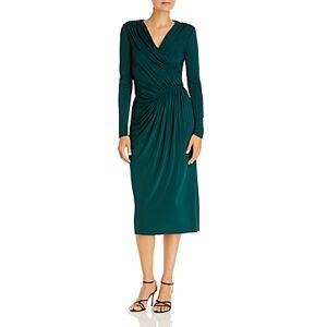 Jason Wu Ruched Midi Dress  - Female - Evergreen - Size: 6
