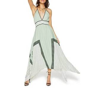 Ramy Brook Printed Taylor Maxi Dress  - Female - Light Seaf - Size: 14