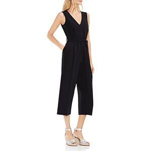 Vince Camuto Cropped Wide-Leg Jumpsuit  - Female - Rich Black - Size: 2
