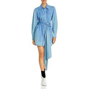 Redemption Denim Shirt Dress  - Female - Celeste - Size: 48 IT/12 US