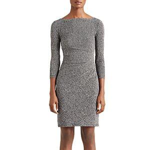 Ralph Lauren Lauren Ralph Lauren Ruched Jersey Dress  - Female - Grey - Size: 18