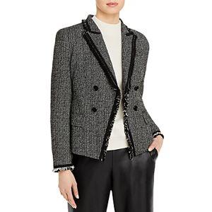 Boss Jehona Tweed Blazer  - Female - Black Fantasy - Size: 12