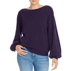 C by Bloomingdale's Balloon-Sleeve Cashmere Sweater - 100% Exclusive