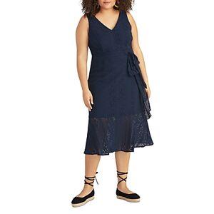 Rachel Roy Plus Josephine Lace Midi Dress  - Female - True Navy - Size: 20W
