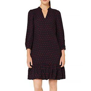 Hobbs London Erin Square Print Dress  - Female - Navy/Merlot - Size: 18 UK/14 US