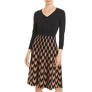 Boss Fetra Printed Dress  - Female - Black/Camel - Size: Extra Large