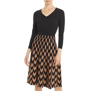 Boss Fetra Printed Dress  - Female - Black/Camel - Size: Extra Small