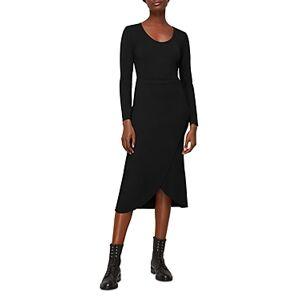 Whistles Jersey Knit Faux Wrap Ballet Midi Dress  - Female - Black - Size: 18 UK/14 US