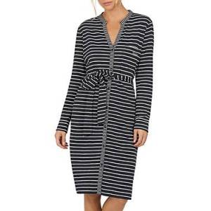 Barbour Auklet Striped Dress  - Female - Navy Stripe - Size: 18 UK/14 US