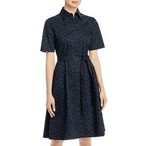 Boss Daranda Printed Tie Waist Dress  - Female - Midnight - Size: 10