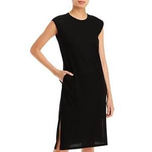 Aqua Muscle Midi Dress - 100% Exclusive  - Black - Size: Medium