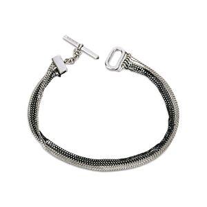 Allsaints Two Tone Chain Bracelet  - Female - Hematite/warm silver