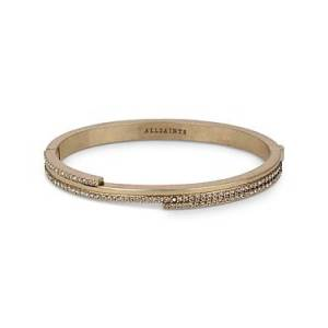 Allsaints Stone Bangle Bracelet  - Female - Warm Brass