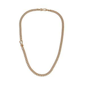 Allsaints Albert Chain Link Collar Necklace  - Female - Warm Brass
