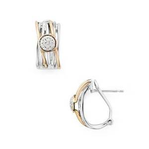 Bloomingdale's Marc & Marcella Diamond Layered Ring Earrings in Sterling Silver & Rose Gold-Plated Sterling Silver, 0.1 ct. t.w. - 100% Exclusive  - Female - Multi/Silver