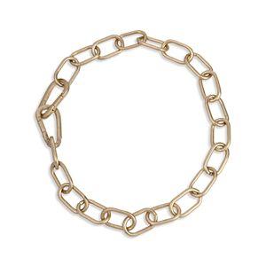 Allsaints Pave Carabiner Link Collar Necklace, 18  - Female - Warm Brass