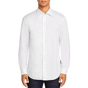 Armani Emporio Armani Chevron Regular Fit Shirt  - Male - White - Size: 3X-Large