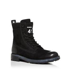 Diesel Men's Throuper Lace Up Combat Boots  - Male - Black - Size: 10.5