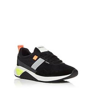 Diesel Men's S-kb Low Top Sneakers  - Male - Black - Size: 9.5