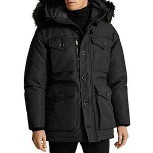 Ralph Lauren Rlx Ralph Lauren Faux Fur Water Repellent Down Parka  - Male - Black - Size: Extra Large