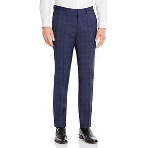 Hugo Boss Hesten Plaid Extra Slim Fit Suit Pant  - Male - Dark Blue - Size: 36R
