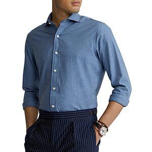 Ralph Lauren Polo Ralph Lauren Classic Fit Plain Weave Button Down Shirt  - Male - Blue - Size: Large