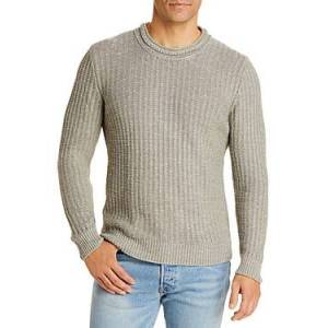 Inis Meain High Neck Rib Knit Sweater  - Male - Slverstone - Size: Extra Large