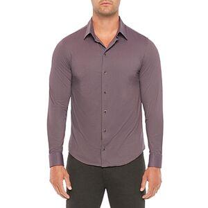 Armani Emporio Armani Regular Fit Solid Shirt  - Male - Solid Light Purple - Size: 2X-Large