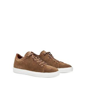 Aquatalia Men's Alaric Suede Low-Top Sneakers  - Male - Taupe - Size: 11
