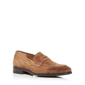 Bruno Magli Men's Brando Apron Toe Penny Loafers  - Male - Cognac - Size: 9