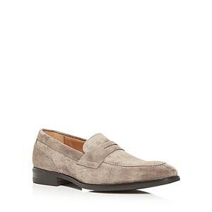 Bruno Magli Men's Brando Apron Toe Penny Loafers  - Male - Taupe - Size: 8.5