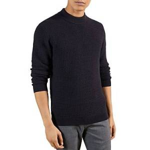 Ted Baker Ovatake Textured Mock Neck Sweater  - Male - Navy - Size: Extra Small