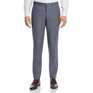 Hugo Boss Hesten Tonal Plaid Extra Slim Fit Suit Pants  - Male - Gray/Light Blue - Size: 34R