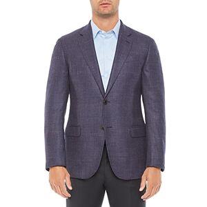 Armani Emporio Armani Regular Fit Solid Light Wool Blend Jacket  - Male - Solid Light - Size: 50 IT / 40 US
