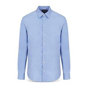 Armani Emporio Armani Long Sleeve Francois Shirt  - Male - Solid Medium - Size: Large