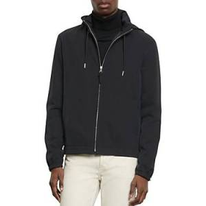Sandro Orion Hooded Jacket  - Male - Navy Blue - Size: 2X-Large