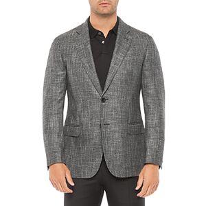 Armani Emporio Armani Regular Fit Solid Jacket  - Male - Solid Dark Gray - Size: 56 IT / 46 US