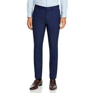 Hugo Boss Hesten Tonal Micro Check Extra Slim Fit Suit Pants  - Male - Dark Blue - Size: 32R