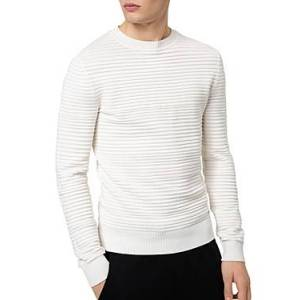 Hugo Boss Sottor Ottoman Rib Knit Sweater  - Male - Natural - Size: Extra Large