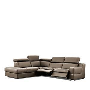 Nicoletti Roberto 3-Piece Motion Sectional - 100% Exclusive  - Visone (Bull 359)