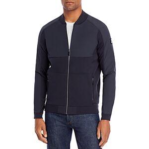 Boss Zaytona Knit and Woven Jacket  - Male - Dark Blue - Size: Medium