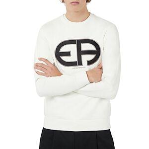 Armani Emporio Armani Felpa Logo Sweatshirt  - Male - Off White - Size: Small