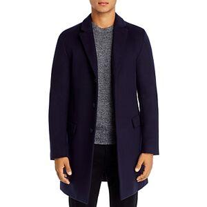 Hugo Boss Migor Slim Fit Top Coat  - Male - Navy - Size: 40R