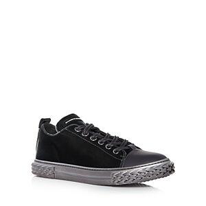 Giuseppe Zanotti Men's Blabber Mixed Media Low Top Sneakers  - Male - Asfalt - Size: 7US / 40EU