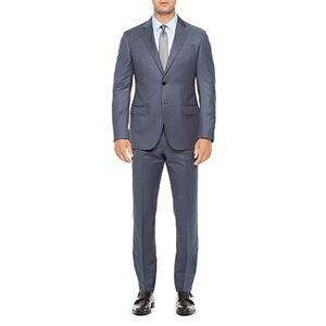 Armani Emporio Armani Regular Fit Blue Wool Suit  - Male - Blue - Size: 46 IT / 36 US