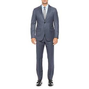 Armani Emporio Armani Regular Fit Blue Wool Suit  - Male - Blue - Size: 58 IT / 48 US